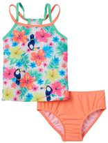 Carter's Baby Girl Tropical Flower Print Tankini Top & Bottoms Swimsuit Set
