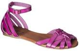 Xhilaration Women's Shauna Ankle Strap Sandals - Pink
