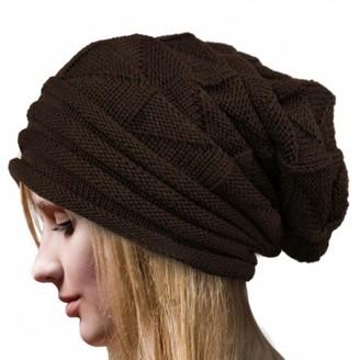 Kanpola Women Women Winter Crochet Hat Wool Knit Beanie Warm Caps White (One Size