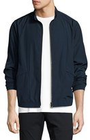 Theory Drafted Zip Blouson Bomber Jacket, Blue