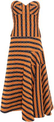 Victoria Beckham Starpless Cloque Jacquard Midi Dress