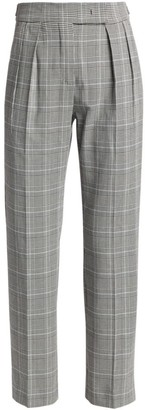 Max Mara Fibra Glen Plaid Trousers