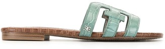 Sam Edelman Bay Splendor croc embossed sandals