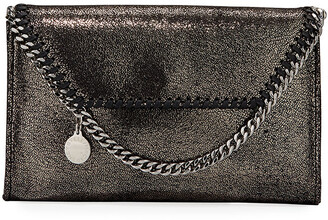 Stella McCartney Falabella Mini Shiny Chamois Wallet on Chain