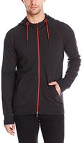 Armani Jeans Men's Regular Fit Contrast Color Zip up Hoodie, Blue, Small