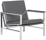Studio Designs Home Atlas Bonded Leather Lounge Chair, Gray