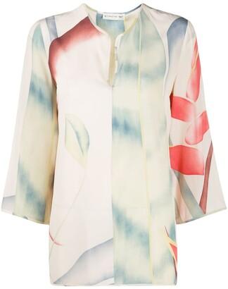 Etro Foliage print tunic blouse