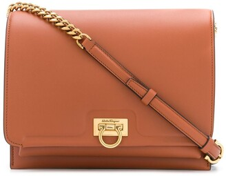 Salvatore Ferragamo Trifolio leather flap bag