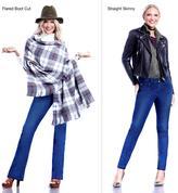"Iman Global Chic ""Slip Into Slim"" Curve Appeal Straight Skinny Jean"