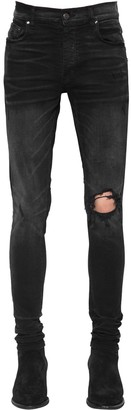 Amiri 15cm Broken Cotton Denim Jeans