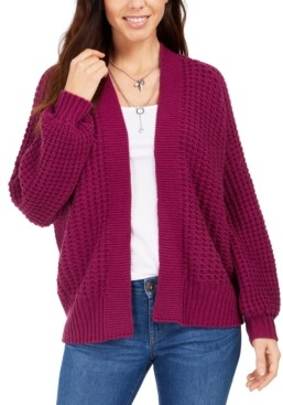 Style&Co. Style & Co Chunky Cable-Knit Open-Front Cardigan, Created for Macy's