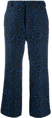 R 13 Leopard Print Cropped Trousers