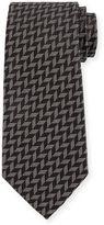 Armani Collezioni Woven Zigzag Silk Tie