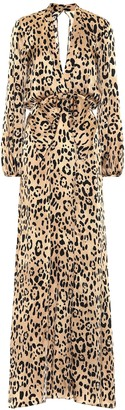 Temperley London Piera leopard-print silk dress