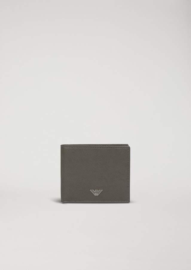 Emporio Armani Boarded Leather Wallet