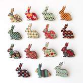 Matin Lapin Patterned Bunny Brooch