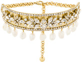 Shourouk crystal and pearl embellished choker