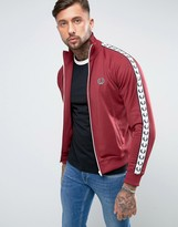 Fred Perry Sports Authentic Track Jacket In Red