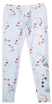 Terez Disney's Frozen 2 Little Girl's & Girl's Olaf Leggings