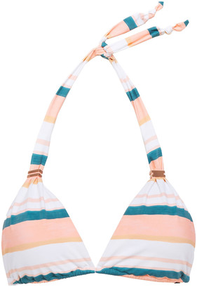 Vix Paula Hermanny Striped Halterneck Bikini Top