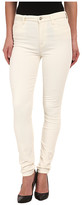 7 For All Mankind The High Waist Skinny Cord in Soft White