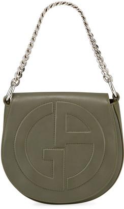 Giorgio Armani Medium Leather Flap-Top Crossbody Bag