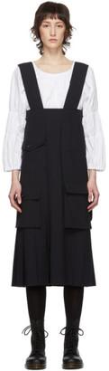 Comme des Garcons Navy Multi Pocket Suspender Dress