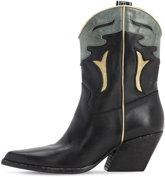 Elena Iachi 70mm Leather Cowboy Boots