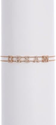 Ef Collection 14K Rose Gold Pave Stone Dream Bracelet