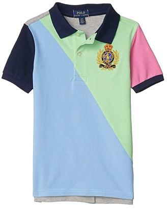 Polo Ralph Lauren Kids Cotton Mesh Polo Shirt (Little Kids/Big Kids) (Blue Lagoon) Boy's Short Sleeve Pullover