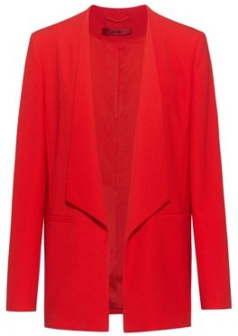 HUGO BOSS Open Front Jacket With Shawl Lapels - Open Pink