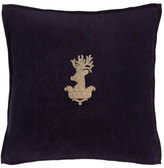 "Ralph Lauren Home Purple Inverness Stag-Head Pillow, 18""Sq."
