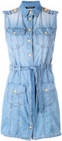 Balmain denim shirt dress - women - Cotton - 38