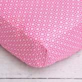 Caden Lane Pink Flower Crib Sheet, Preppy Pink