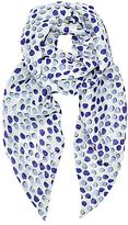 John Lewis Shadow Spot Print Skinny Scarf, Blue Mix