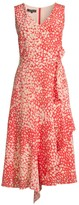 Lafayette 148 New York Telson Spotted Silk Dress