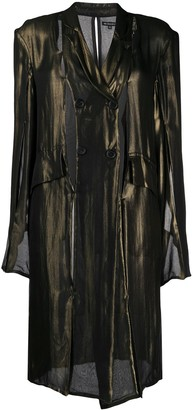 Ann Demeulemeester Lightweight Double Breasted Coat