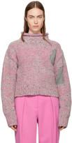 3.1 Phillip Lim Pink Cropped Tweed Turtleneck