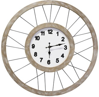 Stratton Home Wood & Metal Frame Clock