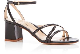 Marion Parke Bianca Strappy Block-Heel Sandals