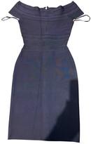 Herve Leger Grey Cotton - elasthane Dress for Women