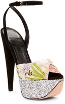 Giambattista Valli Brocade & Glitter Platform Sandal
