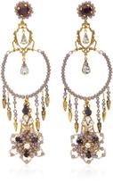Erickson Beamon Wild Flower Chandelier Crystal Earrings
