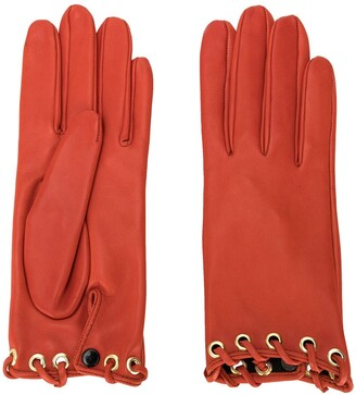 Manokhi Short Lace-Through Gloves