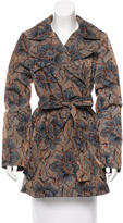 Creatures of the Wind Printed Iridescent Trench Coat w/ Tags