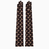 Thumbnail for your product : Marine Serre Black gloves with all-over print