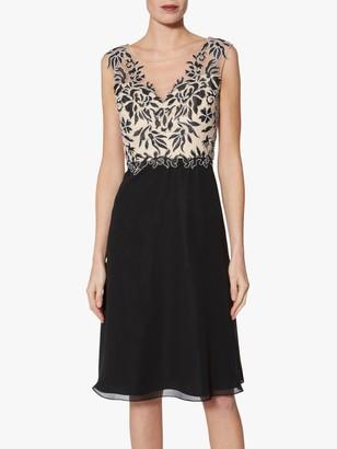Gina Bacconi Siofra Contrast Bodice Dress, Black