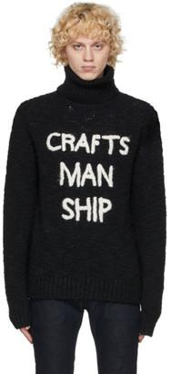 Dolce & Gabbana Black Wool Craftsmanship Turtleneck