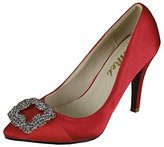 SEXYHER Fashion Satin Diamond Clasp 2.8 Inches High Heel Office Of Women's Shoes - SHOMQ968-88-2.8