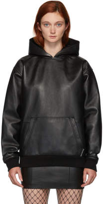 Alexander Wang Black Leather Hoodie